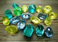 Gem crystals sapphire diamonds jewel Royalty Free Stock Photos