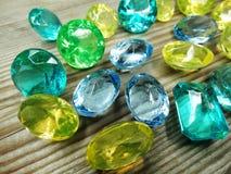 Gem crystals sapphire diamonds jewel Stock Photo