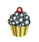 Gem Cupcake Royalty Free Stock Photo