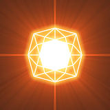 Gem cutting glowing light flare Stock Image
