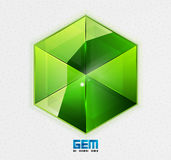 Green gem design template Royalty Free Stock Photography