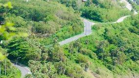 gem för video 4K, den mest härliga bergsynvinkeln i Phuket, Thailand, land arkivfilmer