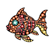 Gem Fish. Fish made of colored gems Stock Images