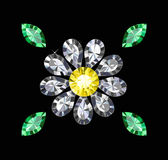 Gem Flower Royalty Free Stock Images
