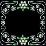 Gem Flowers Frame Lizenzfreies Stockbild