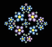 Gem Flowers Stock Images