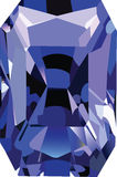 Gem. Stone rectangular blue on a white background Stock Photography