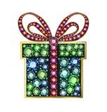 Gem gift box stock illustration