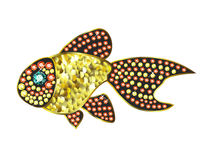 Gem Gold Fish. Fish made of colored gems Stock Photography