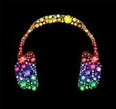 Gem Headphones Fotografia de Stock Royalty Free