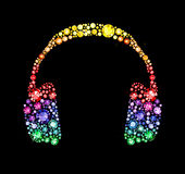 Gem Headphones Royalty Free Stock Photography