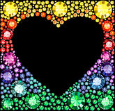 Gem Heart Frame Royalty Free Stock Photo