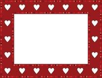 Gem Heart Frame rojo Foto de archivo libre de regalías