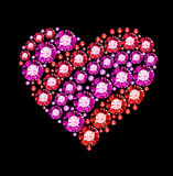 Gem Heart Royalty Free Stock Images