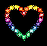 Gem Heart Stock Photo
