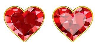Gem Hearts Royalty-vrije Stock Foto