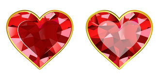 Gem Hearts Royalty Free Stock Photo