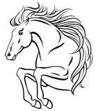 Gem-konst av banhoppninghästen royaltyfri illustrationer