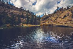 Gem Lake isolado imagens de stock