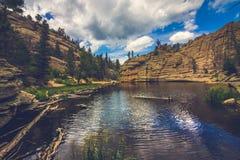 Gem Lake isolado fotografia de stock royalty free