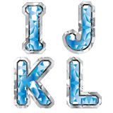 Gem letter I J K L Stock Photography