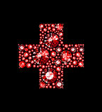 Gem Red Cross Stock Image