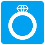 Gem Ring Rounded Square Raster Icon illustration libre de droits