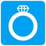 Gem Ring Rounded Square Raster Icon royalty free illustration