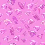 Gem Romantic Seamless Pattern. Romantic seamless pattern made of colored gems Stock Photos