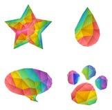 Gem shape illustration Royalty Free Stock Image