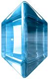 Gem stone. Blue gem (or glass) rounded stone royalty free illustration