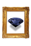 Gem stone in picture frame Royalty Free Stock Image