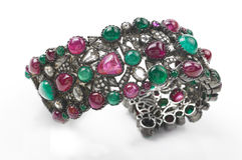 Gem stones bracelet Royalty Free Stock Images