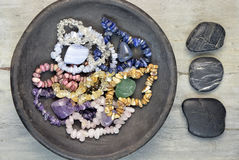 Gem stones and crystals Royalty Free Stock Photos