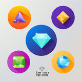 Gem stones icon vector. Royalty Free Stock Image
