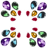 Gem stones isolated Royalty Free Stock Photos