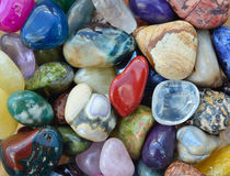 Gem stones pattern Stock Photo