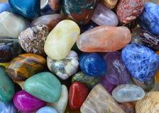 Gem stones pattern Stock Image