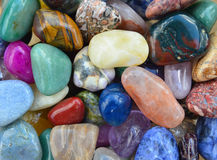 Gem stones pattern Royalty Free Stock Images