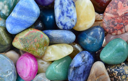 Gem stones pattern Royalty Free Stock Photos
