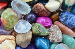 Gem stones pattern Stock Images