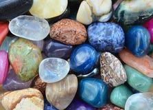 Gem stones pattern Royalty Free Stock Image