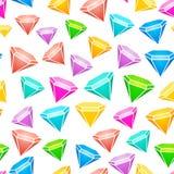 Gem stones seamless pattern. Vector Royalty Free Stock Photos