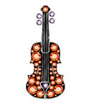Gem Violin Royalty Free Stock Photo