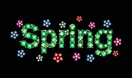 Gem word spring Stock Photo