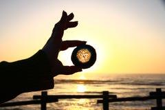 Gema azul sob o por do sol Imagem de Stock