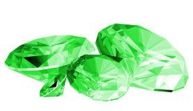gema da esmeralda 3d isolada Fotos de Stock Royalty Free