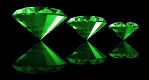 gema da esmeralda 3d isolada Imagens de Stock