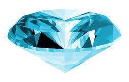 gema de Aquamarine 3d isolada Imagens de Stock