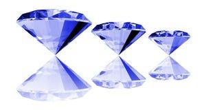 gema del zafiro 3d aislada Foto de archivo libre de regalías